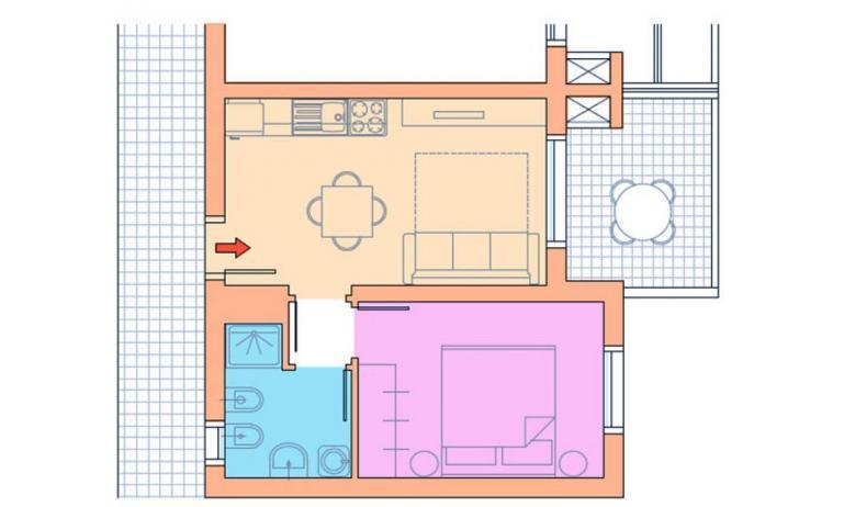 residence VILLAGGIO A MARE: B4/H - planimetria