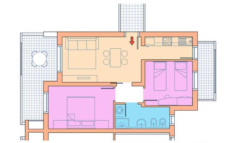 residence VILLAGGIO A MARE: C6/I - planimetria