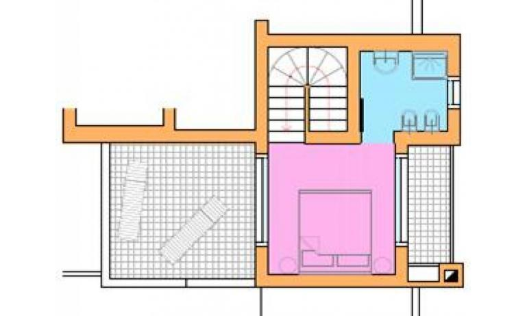 residence VILLAGGIO AMARE: D8/M - planimetry second floor