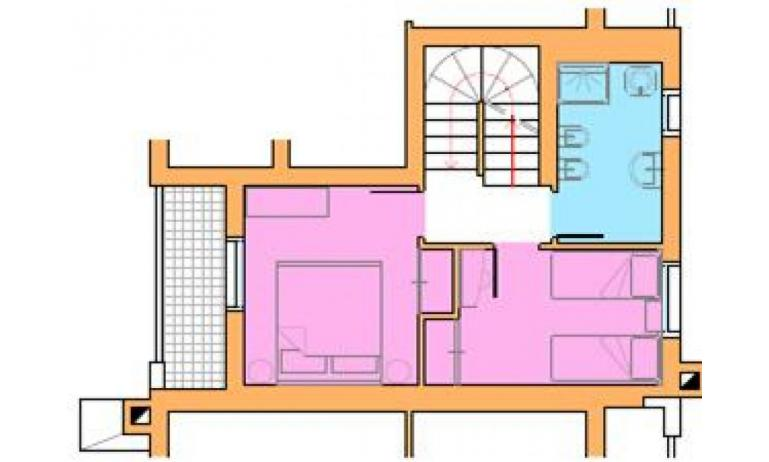 residence VILLAGGIO AMARE: D8/M - planimetry first floor