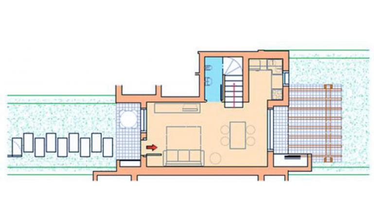 residence VILLAGGIO AMARE: D8/M - planimetry ground floor