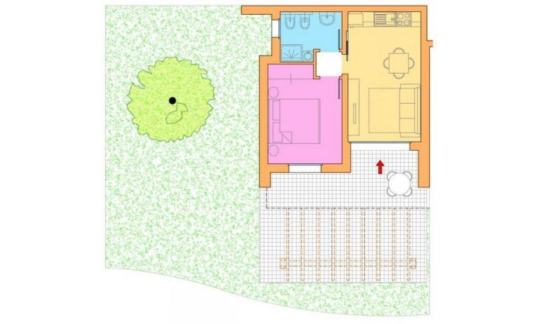 residence VILLAGGIO LAGUNA BLU: B4/H - planimetria