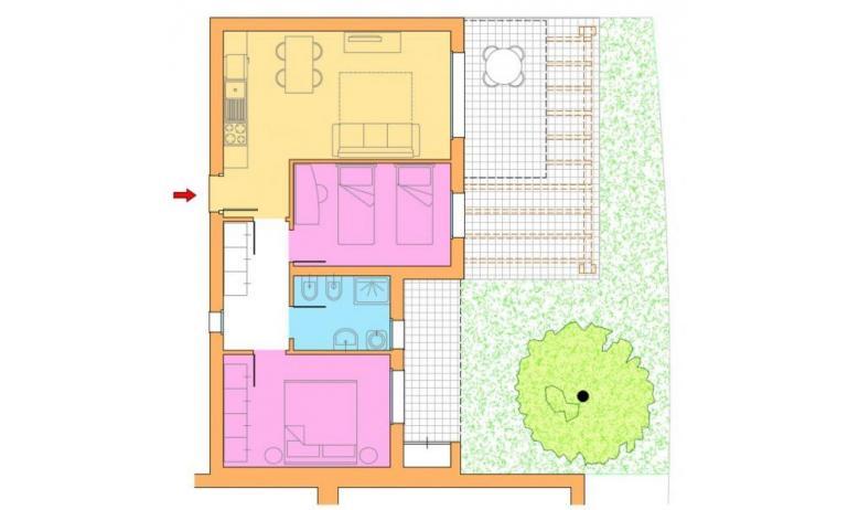 residence VILLAGGIO LAGUNA BLU: C6/I - planimetria