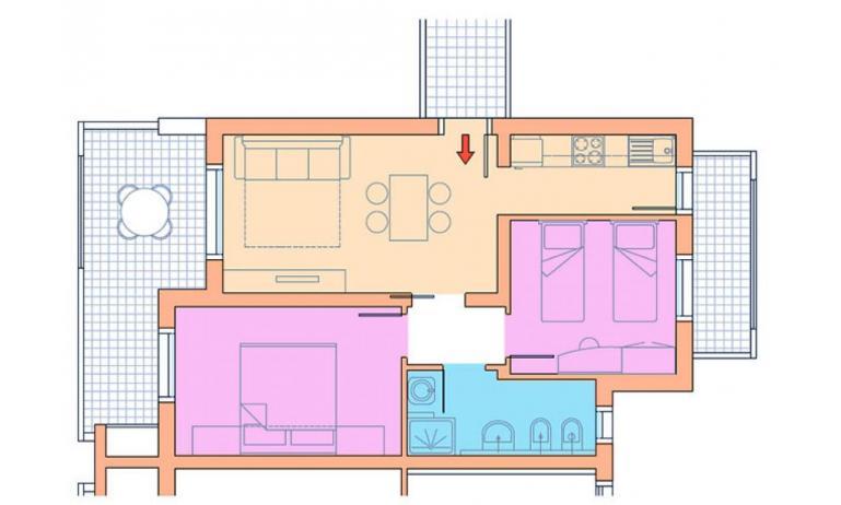 residence VILLAGGIO A MARE: C6/IR - planimetry